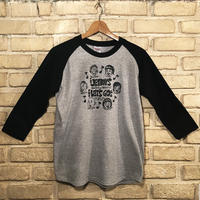 ◆THE JET BOYS & THE LET'S GO's Raglan Sleeve / Design by ONO-CHING / 杢グレー×ブラック / XS◆