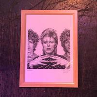 David Bowie (B) drawing by Jimmy Mashiko
