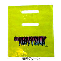【Heavy Sick PVCバッグ 螢光イエロー/ピンク水色】