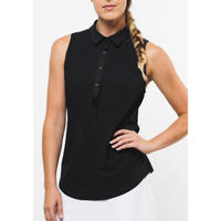 FORAY GOLF Core 2.0 Sleeveless Polo Black