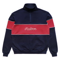 Malbon Collegiate Pullover Navy/Strawberry