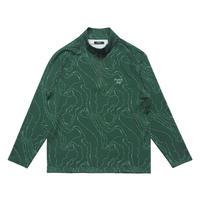 Malbon Contour 1/4 Zip - Green