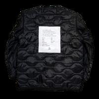 military liner coat / Black