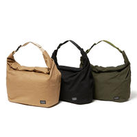 hobo / Cotton Twill Roll Top Bag