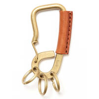 """hobo ホーボー"""" CARABINER KEY RING OILED COW LEATHER""""カラビナ"""