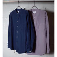 "MANUAL ALPHABET マニュアルアルファベット ""LOOSE FIT BAND COLLAR SHT"""