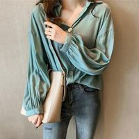 長袖シンプルシャツ BEM0028