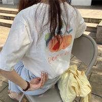 バックプリントTシャツ(ピーチ)SNIF0006