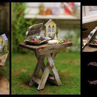 ガーデンテーブルのエッグケース