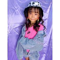 ♡Cuugal10月号搭載♡ピンク刺繍デニムジャケット