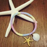 shell&starfish hair accessory