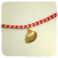 "gold shell bracelet ""sunset"""