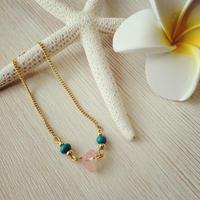 pink stone chain bracelet