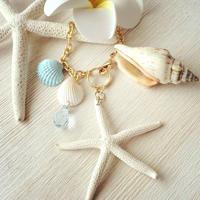 starfish&many shells bag charm