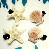 starfish & shell hair accessory
