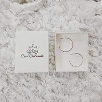 [Silver925] Hammered design hoop earrings