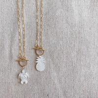 [14kgf] Summer top mantel choker necklace