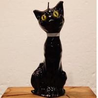 キャンドル 黒猫(黄色い目)