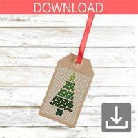 クリスマスツリー 11   クロスステッチ図案