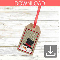 Snowman #5 | Cross stitch pattern