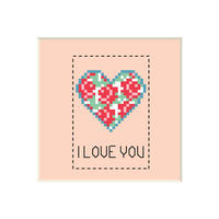 Heart #4 | Cross stitch pattern