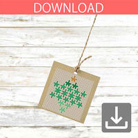 Christmas wreath #3 | Cross stitch pattern