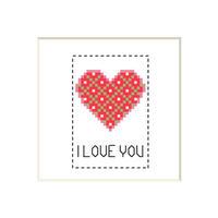 Heart #2 | Cross stitch pattern