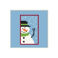 Snowman #4 | Cross stitch pattern