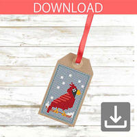 Christmas Bird #1 | Cross stitch pattern