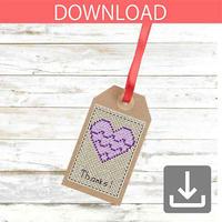 Heart #6 | Cross stitch pattern