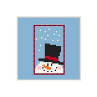Snowman #5   Cross stitch pattern