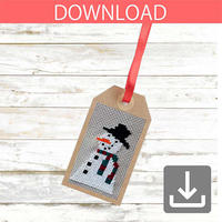 Snowman #2 | Cross stitch pattern