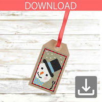 Snowman #6 | Cross stitch pattern
