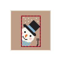 Snowman #6 | Cross stitch pattern