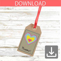 Heart #8 | Cross stitch pattern