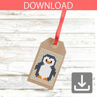 Free pattern | Penguin cross stitch pattern