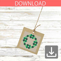 Christmas wreath #1 | Cross stitch pattern