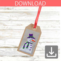 Snowman #1 | Cross stitch pattern