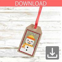Snowman #8 | Cross stitch pattern