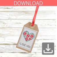 Heart #4 | Cross stitch pattern
