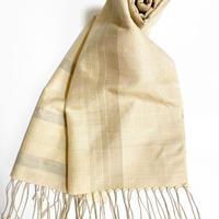 手織りスカーフ  桜・梅・栗・番茶