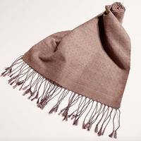 手織りスカーフ  五倍子