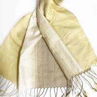 手織りスカーフ  刈安