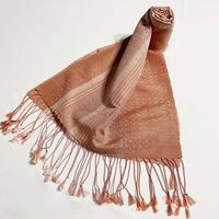 手織りスカーフ  インド茜