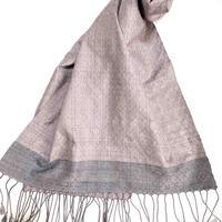 手織りスカーフ 五倍子・ラックダイ・ログウッド