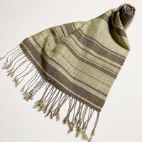 手織りスカーフ  ヤマモモ・エンジュ