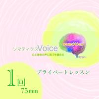 75分X1回チケット       ソマティクスVoiceエクササイズ オンラインプライベート