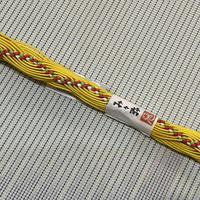 み々弥・帯締「naminami」黄色と赤緑白