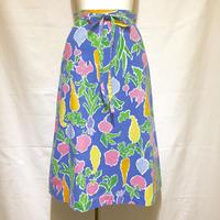 ベジタブル柄ラップスカート(1970s UK)