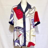 """""""ラルフローレン""""SILK開襟シャツ(1980s U.S.A)"""